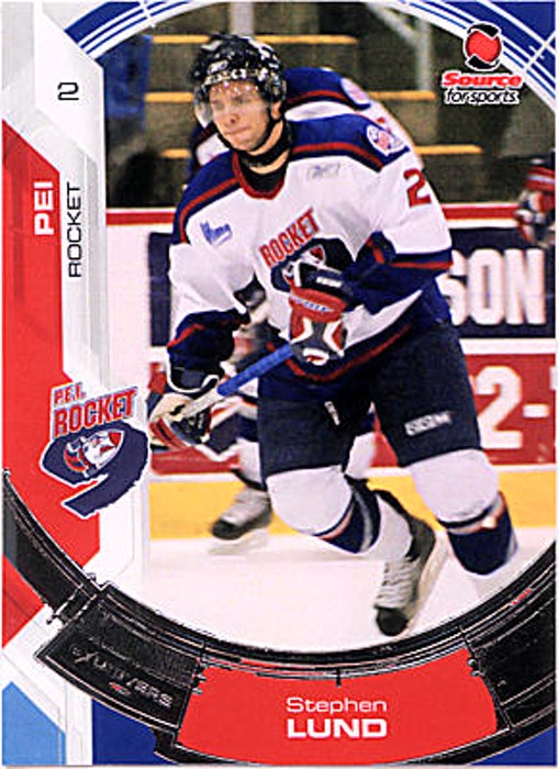 Steve Lund's trading card from his time with the QMJHL's P.E.I. Rocket. - Contributed