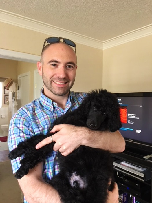 Ian Sutherland and his dog, Luka, are taking up residence in Corner Brook as Sutherland assumes the position of vice-president (pro tempore) at Grenfell Campus. — Contributed