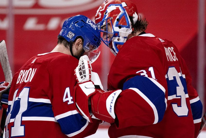 Carey Price has a calming effect on his teammates, Paul Byron says.