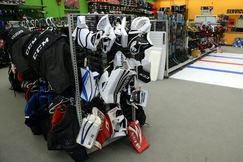 Some of the inventory at Play It Again Sports cn St. John's. — Keith Gosse/The Telegram