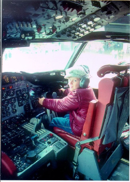 Capt. Steve MacDonald is seen in the cockpit of a CP-140 Aurora at the Shearwater International Airshow when he was a child. He later joined the air force and flew the same model of plane on missions around the globe. Contributed  - Saltwire network