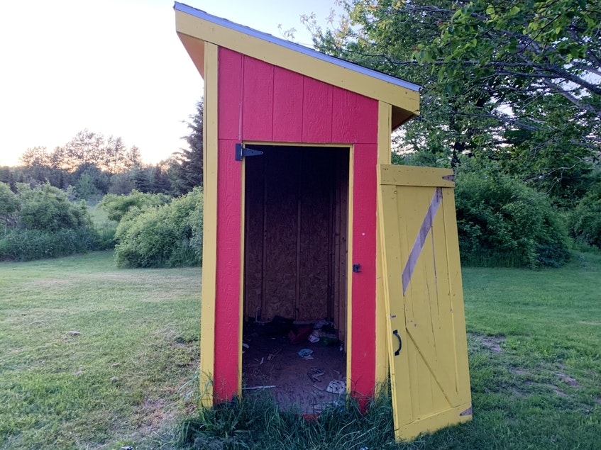 A Sydney and District Little League shed is shown located near the McCormick Ball Field on Cabot Street in Sydney. The shed was broken into and equipment was stolen. JEREMY FRASER/CAPE BRETON POST