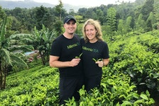Rory and Tracy Bell, the co-founders of Millennia Tea, pose for a photo in central Sri Lanka in 2019. New Brunswick-based Millennia is now selling their products in Whole Foods Market locations across Canada.