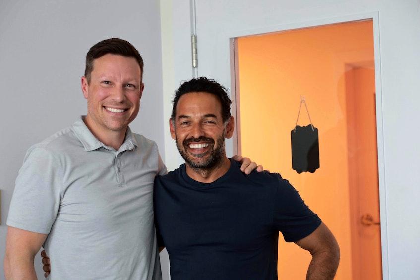 Ron Lovett, and his friend and business partner Shaun Majumder. - Eric Wynne