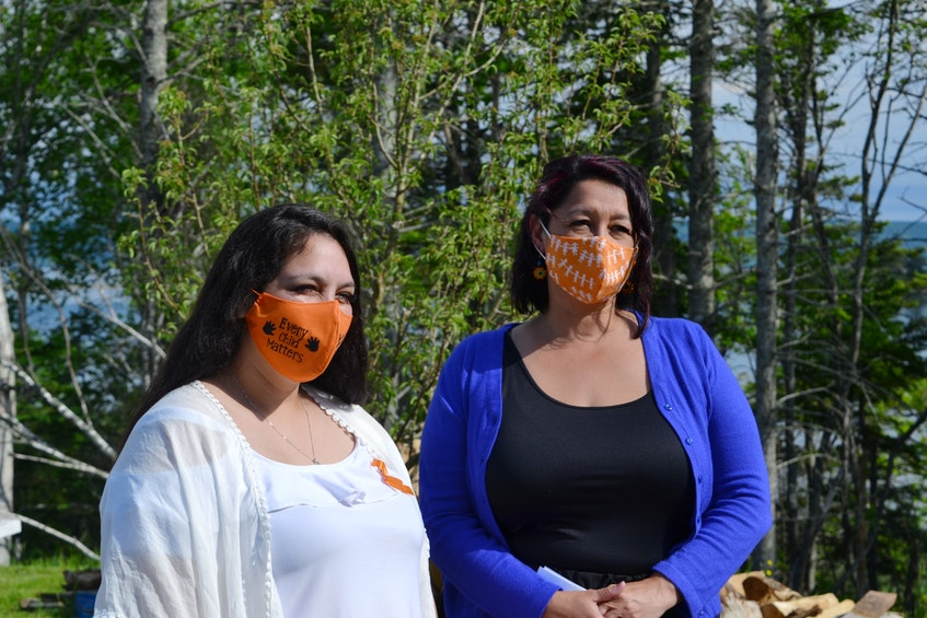 Newly elected councillors Sophia Basque-Denny and Starr Paul were sworn in on June 9 in Eskasoni. ARDELLE REYNOLDS/CAPE BRETON POST - Ardelle Reynolds