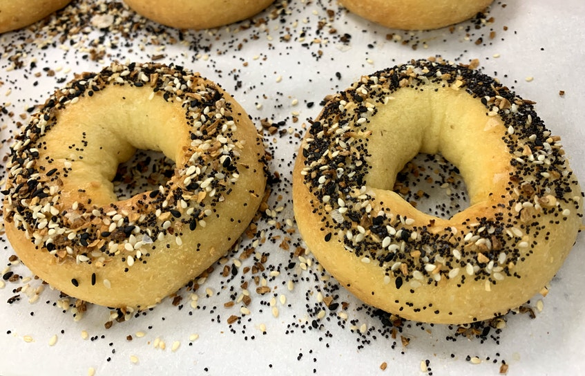 Customers can't believe the 'everything' bagels from Bliss Bakery are keto-friendly, but they are. The baker doesn't use wheat-based flours or regular sugar, which helps limit the carbs considerably. - Carole Morris-Underhill
