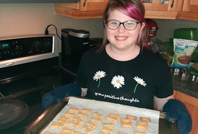 Twelve-year-old Sarah Hayes of Massey Drive has started her own business baking dog treats.