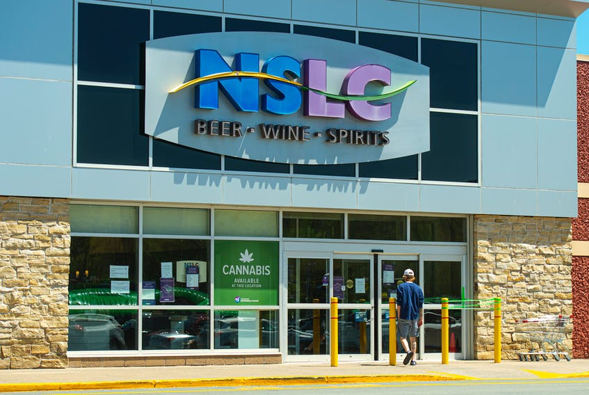 A customer enters the Mill Cove NSLC outlet. Ryan Taplin - The Chronicle Herald