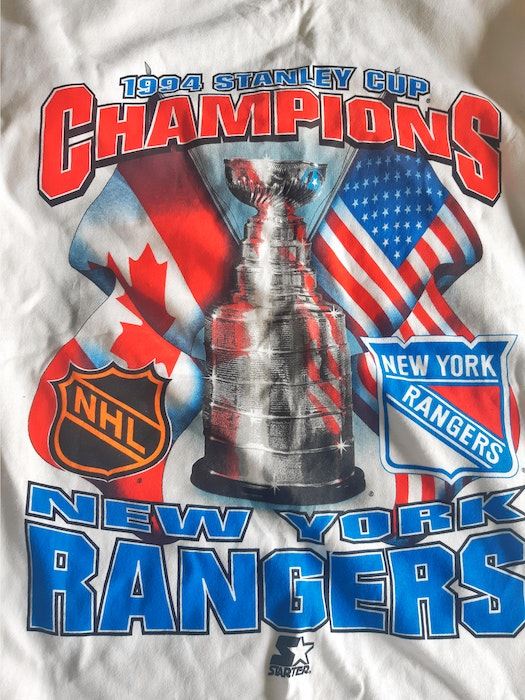 This T-shirt is one of Thane Arsenault's souvenirs from when the New York Rangers ended a 54-year Stanley Cup drought in 1994. A fan of the Rangers for over 35 years, Arsenault is thrilled to have Summerside native Gerard (Turk) Gallant named as the NHL team's head coach. - Contributed