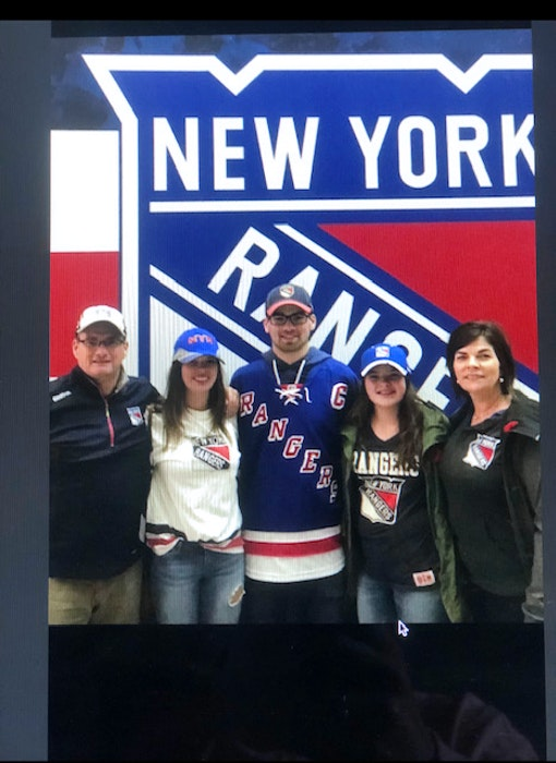 The Hennessey family of Charlottetown pose for a photo at a New York Rangers' game at Madison Square Garden. From left: Ron, Heidi, Lal, Ella and Anne Marie. - Contributed