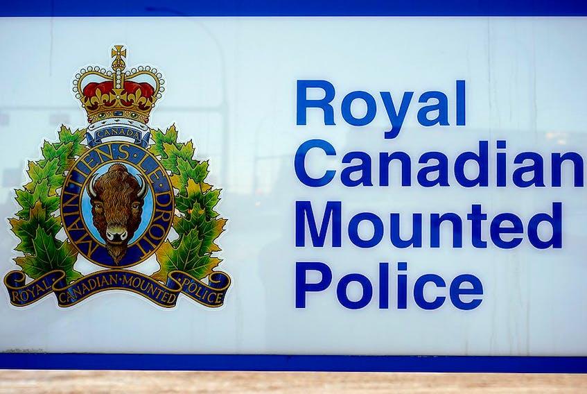 The RCMP logo at K Division headquarters in Edmonton.