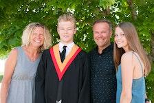 The Matthews family: Norrie Matthews (father), Kari Matthews (mother), daughter Vea Matthews and son Kai Matthews.