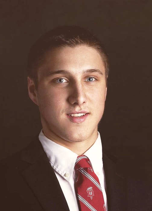 Alex Steeves has completed three of four years of his accounting major at the University of Notre Dame. He intends to finish his degree after playing professional hockey. - Contributed