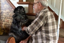 A highlight of any visit to the farm is seeing the joy that Barney brings to Dad!