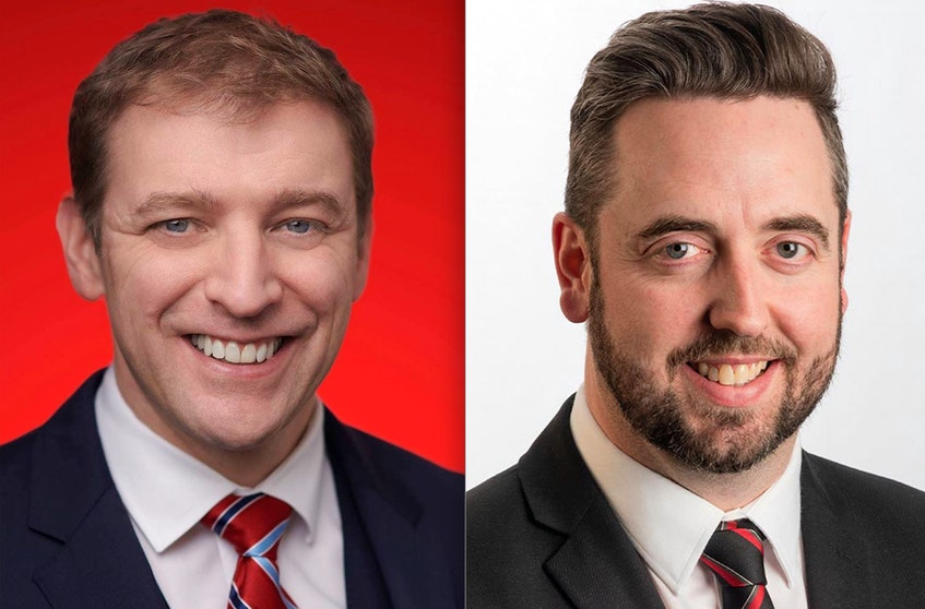 Premier Andrew Furey and energy minister Andrew Parsons (right) will meet with the mediua Thursday morning to discuss the announcment concerning the Terra Nova offshore project.