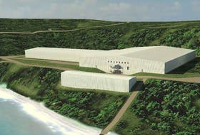 Cooke Aquaculture also hopes to move ahead with construction of this salmon hatchery at Digby Neck in 2022.