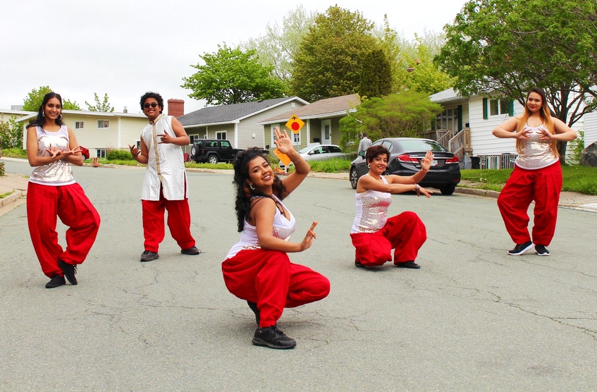 Dance group Bollywood Jig was started in 2004 by Bangladesh-born Sanchita Chakraborty after she moved from India to St. John's and fell in love with the province. From left to right: Rubthika Hubert, Annaay Antony, Ananya Antony, Sanchita Chakraborty and Tarannum Ahmed Oyshee. - Andrew Waterman