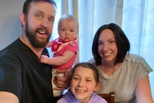 Cory Chafe and Leigh Ann LeBlanc with their daughters Lauren Chafe, now nine months old, and Sarah LeBlanc, now nine years old. Chafe says his relationship as a stepfather to Sarah couldn't be better.