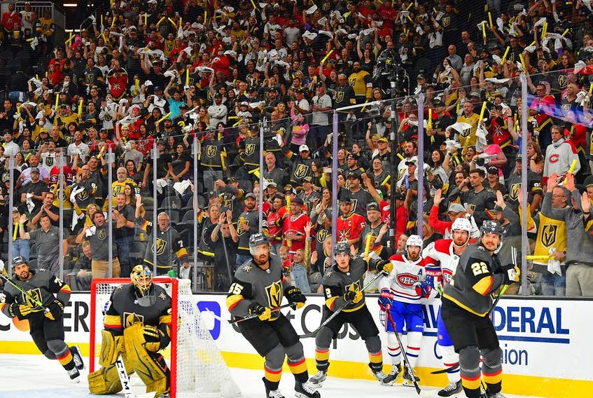 A capacity crowd of 17,884 was at T-Mobile Arena Monday night to watch Game 1 of Stanley Cup semifinal series between the Golden Knights and the Canadiens with Vegas winning 4-1.