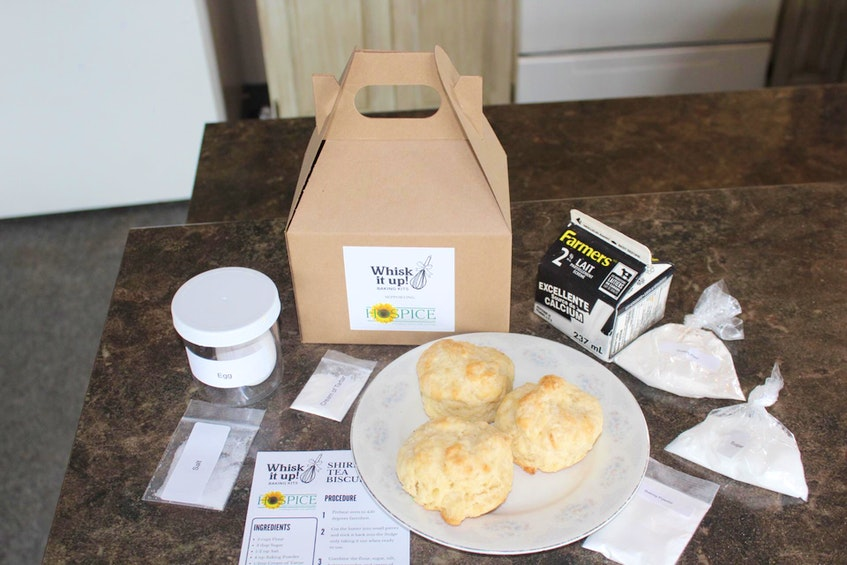 The baking kits come with everything needed to make tea biscuits using Hines' recipe.  - Saltwire network