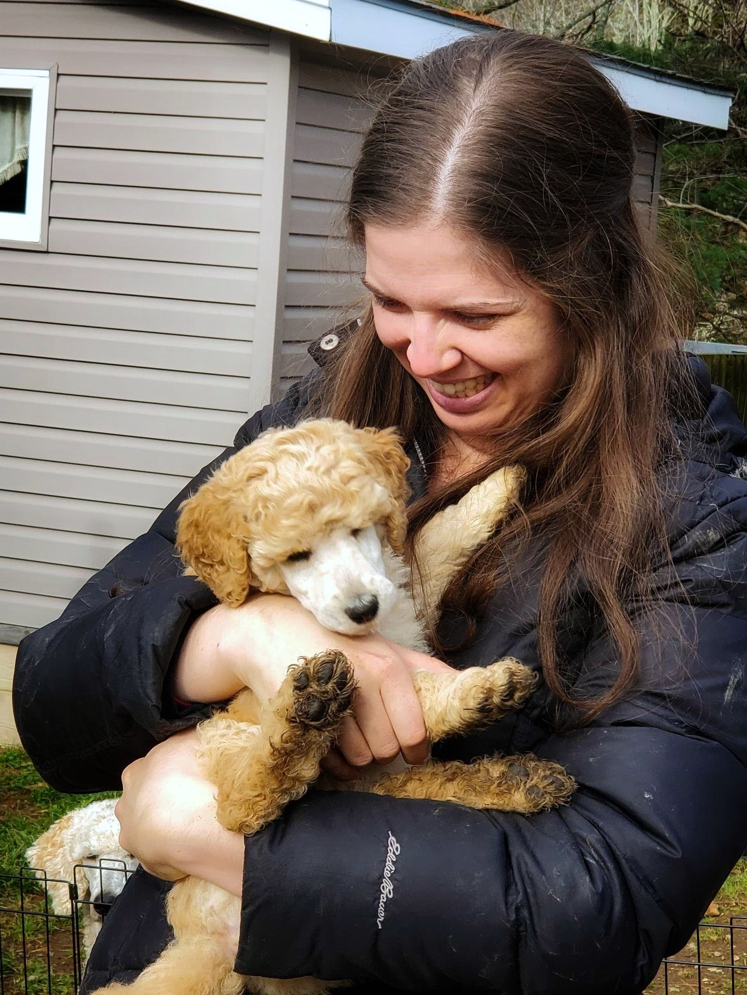 """It's tick season once again, which means people should be on the lookout for those pesky annoyances, whether it's to protect your pets or yourself. Michelle Proulx, seen here with her dog Sunshine, says ticks had never been a concern for her until the young pup had """"six or seven"""" attached one day. The ticks were sent away to be tested, and came back positive for Lyme disease. Fortunately, Sunshine received antibiotics and did not suffer from any symptoms."""