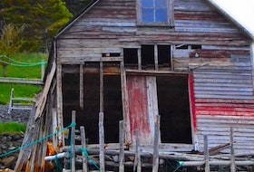 A fishing stage in Herring Neck. David Boyd photo