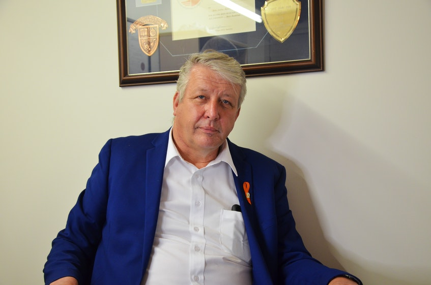 Kings North MLA John Lohr in his constituency office in Kentville. KIRK STARRATT