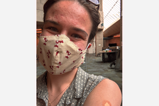 Vaccine selfies have become common as younger people get their shots and celebrate on social media. Truro News reporter Chelsey Gould, 23, eagerly awaited her turn for a first dose.