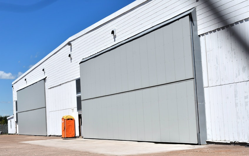 The Debert Aviation Centre is starting to take shape after the hangar facility was purchased by the Municipality of the County of Colchester last summer. A new hangar door was part of the necessary work. - Richard MacKenzie