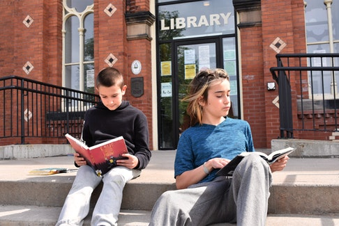 Eric (left) and Nathan Sangster enjoy reading and activities at the Colchester-East Hants Public Library anyway, so taking part in the library's annual Summer Reading Challenge comes naturally.