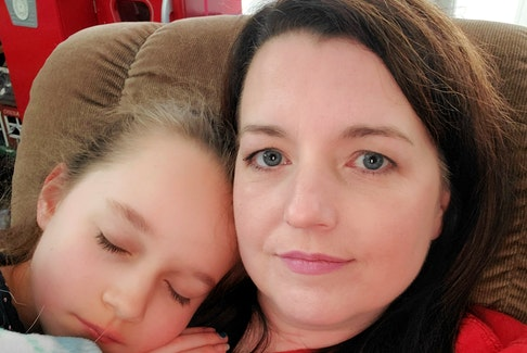 Elizabeth Mason-Squires with her daughter, Rowan. Mason-Squires was diagnosed with inattentive ADHD at age 46. Women over 40 are among the fastest-growing population to be diagnosed with ADHD, largely because it's difficult to recognize in young girls.