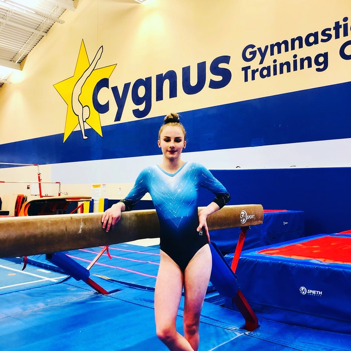 Megan Skinner of Cygnus Gymnastics turned in a strong performance at last month's Gymnastics Canada national championships, held virtually due to COVID-19. Megan ended the event in 16th place in the all-around competition and eighth on the beam. — Contributed