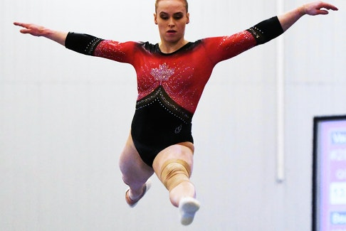 Ellie Black performs on the beam at the 2019 Artistic Gymnastics Canadian Championships in Ottawa. - Gymnastics Canada