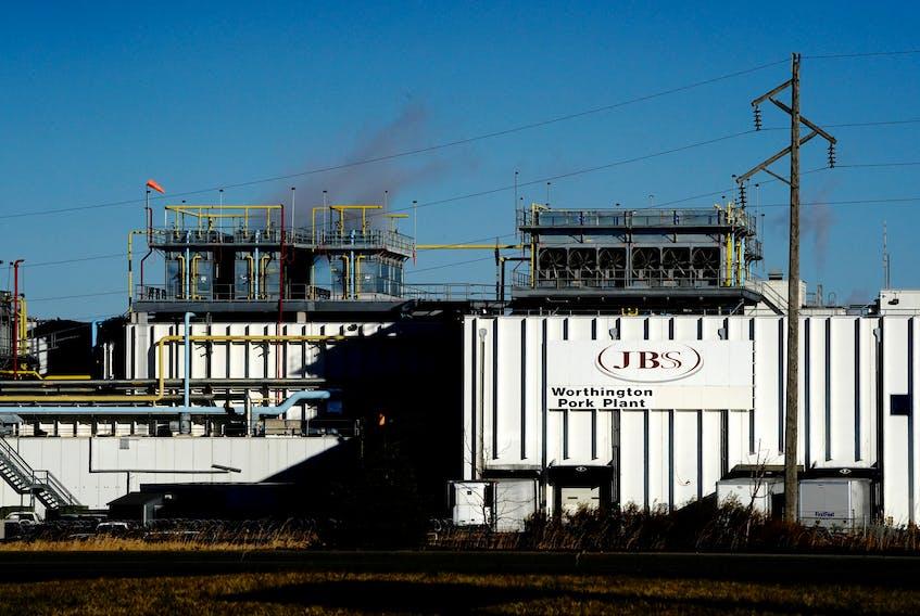 The JBS USA Worthington pork plant in Minnesota. REUTERS/Bing Guan