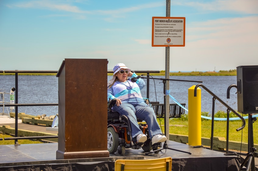 """""""This is truly a community project, it really is,"""" said disability advocate Marcie Shwery-Stanley, who has an MBA in community economic development, at the event."""