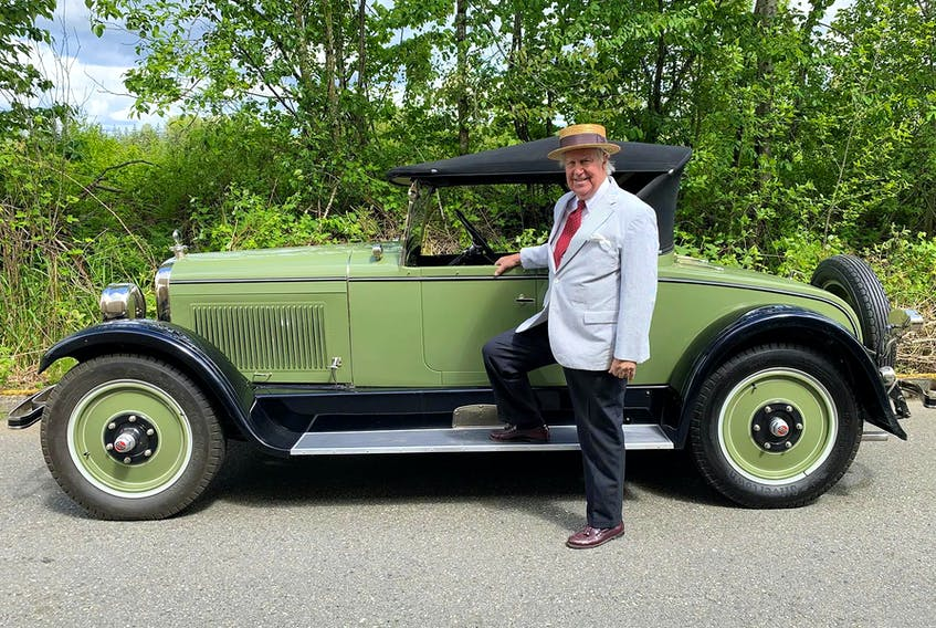 Owner Jonathan Parker with his freshly restored 1926 Nash Advanced Six roadster. Alyn Edwards/Postmedia News