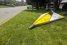 Scarborough artist Fee Gun once placed a traffic-calming spaceship on his front lawn.  Lorraine Sommerfeld/Postmedia News