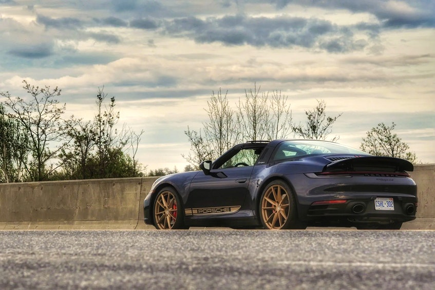 The 2021 Porsche 911 Targa 4S is one of the most chilled-out sports cars there is. Justin Pritchard/Postmedia News - POSTMEDIA