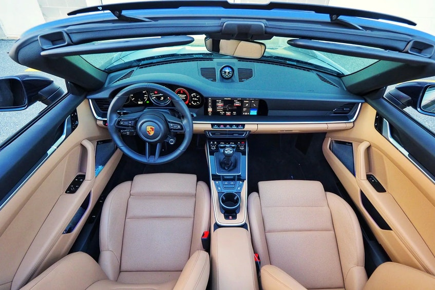 A computer system optimizes all systems around the G-forces being exerted on the 2021 Porsche 911 Targa 4S. Justin Pritchard/Postmedia News - POSTMEDIA