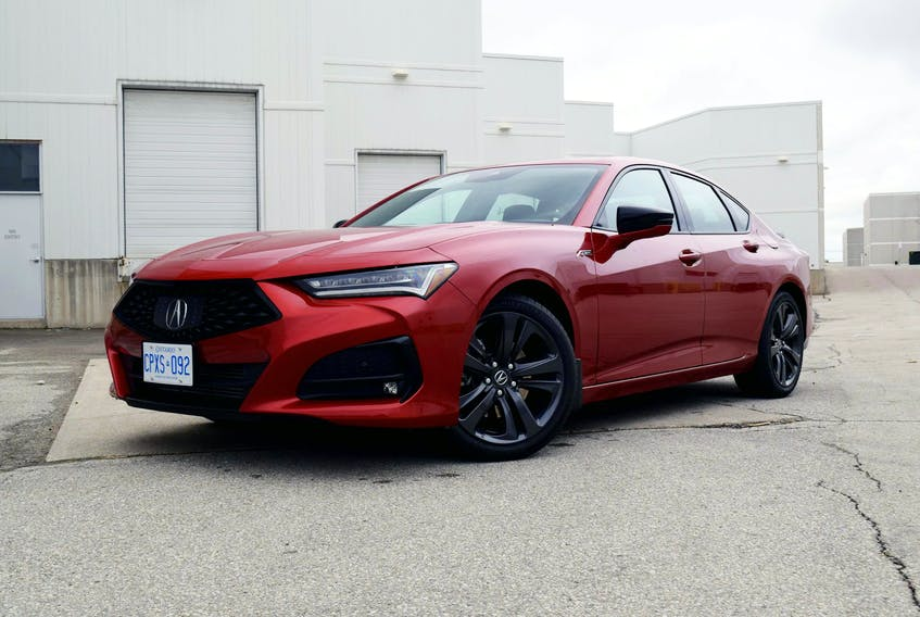 The 2021 Acura TLX A-Spec packs a fetching design. Postmedia News