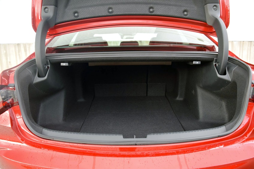 The trunk storage of the 2021 Acura TLX A-Spec.  Postmedia News  - POSTMEDIA