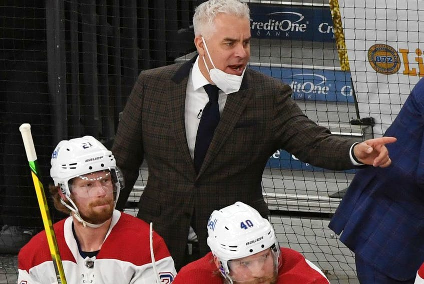 """The Canadiens cancelled a scheduled video conference with head coach Dominique Ducharme on Friday morning because of """"some irregularities"""" in his COVID-19 test."""
