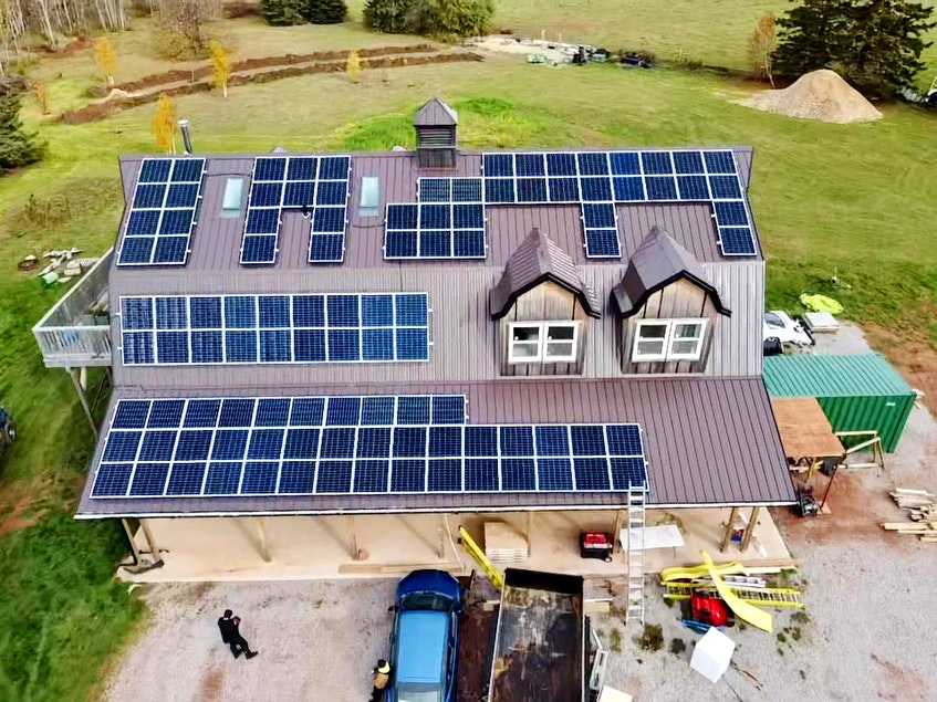 Solar panels are now installed at Truckin' Roll owner Amanda Beaton's commercial kitchen, where they've reduced her power bills to nearly zero. - Photo Contributed.