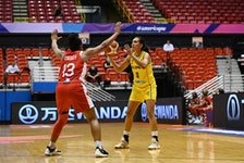 Shay Colley, originally from East Preston, guards Colombia's Yaneth Arias during a round-robin game Tuesday at the FIBA Women's AmeriCup 2021 in Puerto Rico. Canada faces the host team in the tournament semifinal Friday night. - FIBA