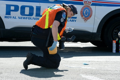 The RNC is investigating a serious hit-and-run motor-vehicle/pedestrian collision in St. John's Friday afternoon. Keith Gosse/The Telegram