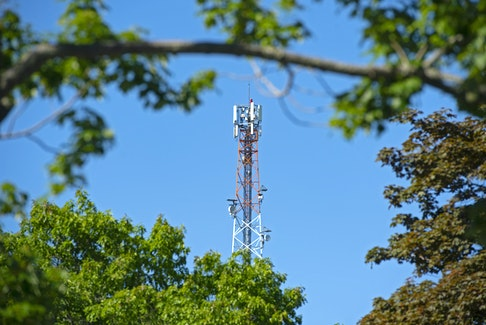 A Rogers cell tower near Williams Lake. Rogers announced the expansion of their 5G network to Halifax earlier this week.