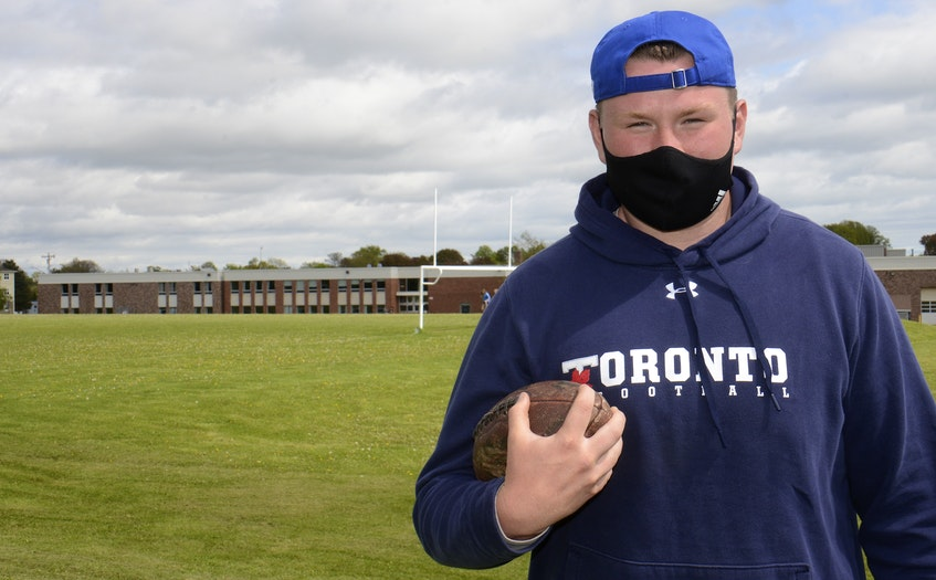 Colonel Gray High School student Parker Williams is heading to the University of Toronto in the fall to play football and studying kinesiology. - Jason Malloy • The Guardian