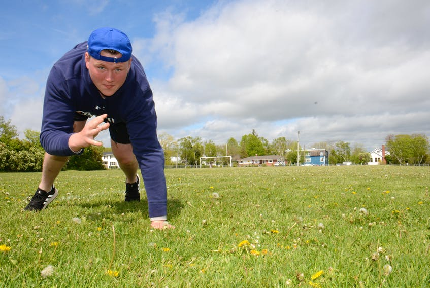 Cornwall Timberwolves football player Parker Williams is looking forward to taking the next step in his career by suiting up for the University of Toronto Varsity Blues this fall.