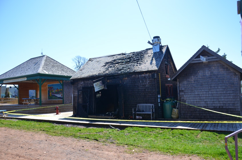 An early-morning fire on May 16 caused extensive damage to the Town of Kensington-owned building that housed Go! Fish Eatery in the Kensington Rail Yard. Go! Fish Eatery plans to open a food truck on the Haunted Mansion property in Kensington in July. - Jason Simmonds • The Guardian