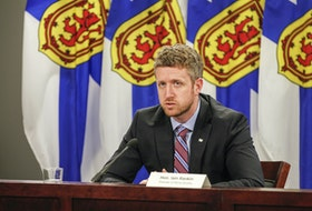 Premier Iain Rankin announced $454,000 in funding for paving projects at Dalbrae Academy and the Strait Regional Centre for Education's bus maintenance facility.